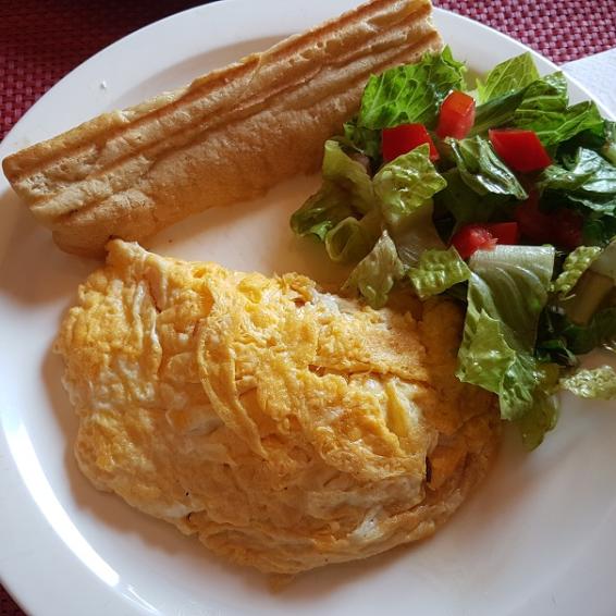 Half Moon Bay Salmon Omelet